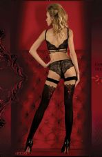 Ballerina 350 Hold Ups Nero (Black)/Red